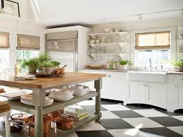 Checkerboard Kitchen Floor Cottage Kitchen Floor Tiles Painting Tiles In Kitchen