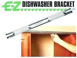 attaching dishwasher to granite full for mount post 0 bracket countertop whirlpool installation attachin dishwasher end panel attaching to granite