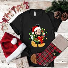 Mickey Christmas Lights Disney Mickey Mouse Christmas Lights T Shirt Hoodie Sweater