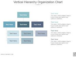 Vertical Hierarchy Organization Chart Ppt Design