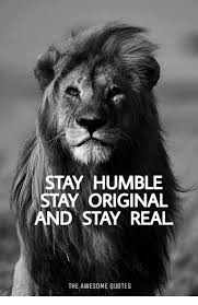 Humble Quotes Mesmerizing STAY HUMBLE STAY ORIGINAL AND STAY REAL THE AWESOME QUOTES Humble