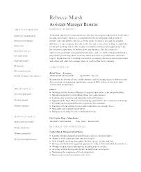 Assistant Manager Restaurant Resume Classy Restaurant Assistant Manager Resume Uwaterlooco