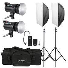 photography studio light kit 2 ox 300w flash tripod softbox trigger bag g5x4