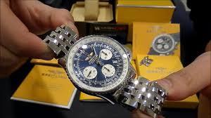Watchesgmt Breitling Blue Dial A23322 Youtube Navitimer Chrono -