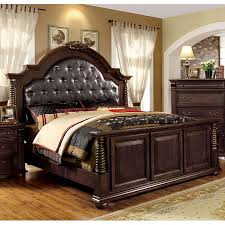 Lowes Bedroom Furniture Shop Furniture Of America Esperia Brown Cherry Queen Panel Bed At