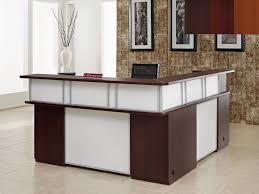 image of l shaped reception desk furniture