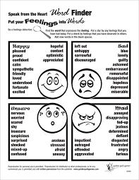 Feelings Vocabulary Chart Word Finder Chart Feelings Flyer