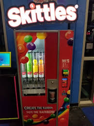 Create The Rainbow Skittles Vending Machine Unique This Segregated Skittles Machine Mildlyinteresting