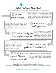 best art critiques and rubrics images art use this flowchart to help your students write authentic artist statements
