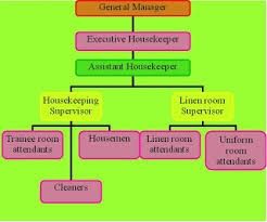Housekeeping Department Functional Chart Housekeeping Organization Chart Of Housekeeping Department