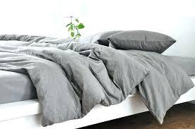 charcoal grey duvet cover gray king medium linen dark set