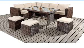 rattan furniture replacement cushions set