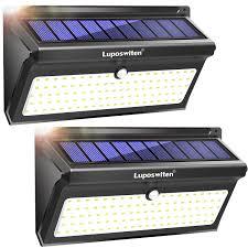 Everbright Solar Light Amazon Luposwiten 100 Led Motion Sensor Solar Lights Outdoor