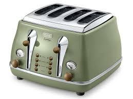 Retro Toasters Vintage Icona Green 4 Slice Toaster Delonghi New Zealand 8005 by uwakikaiketsu.us
