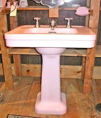 Pink Pedestal Sink 2