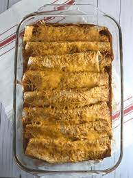 beef and black bean enchiladas meal
