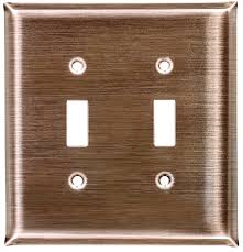 copper outlet covers.  Outlet Dark Brushed Copper Switch Plates Throughout Copper Outlet Covers
