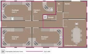 Ground Floor Office Plan  Ground Floor Plan  Network Layout Floor Plan Office