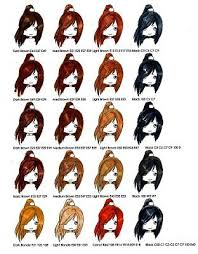 Copic Hair Color Chart Copic Hair Colors Direct Post Copic Copic Markers