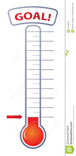Chart Goal Thermometer Stock Illustrations 32 Chart Goal