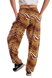 The Hot Yoga Hammers Ladies Purple And Gold Zubaz Hammer Pants
