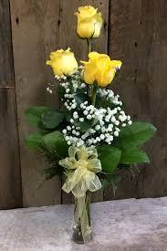 three roses in vase flowers vase50