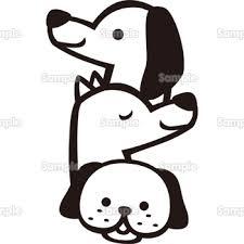 3匹の犬 無料イラスト 年賀状プリント決定版 2020