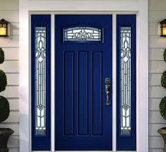 blue front doorModern blue front door Get the look with DunnEdwards Indigo