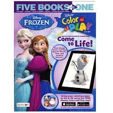 Coloring is a great way to spend quality time with your little one and also a great. Five Books In One Frozen Color And Play Coloring And Activity Book Walmart Com Walmart Com