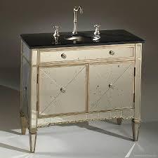 bathroom vanity w antique mirror panel 1