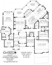 ... Wonderful The Meadow Spring Manor House Plan | House Plans By Garrell 5  Bedroom Ranch House ...