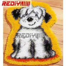 hot 3d latch hook rug kits diy needlework unfinished crocheting rug yarn cushion mat embroidery carpet
