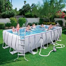 rectangle above ground swimming pool. Bestway 18\u0027x9\u0027x48\ Rectangle Above Ground Swimming Pool R