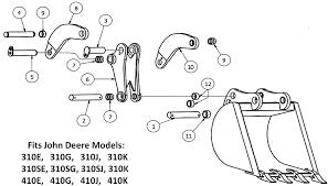 Excavator Bucket Pin Size Chart John Deere Backhoe Bucket Pins Bushings And Links