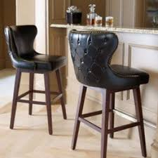 brown leather bar stools. Estelle Black Leather Barstool Eclectic Bar Stools And Counter Brown R