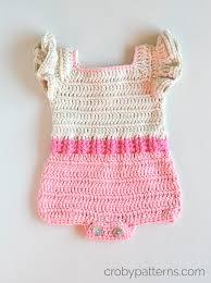 Baby Romper Pattern Free Classy Crochet Baby Romper Pattern Pink Flamingo Croby Patterns