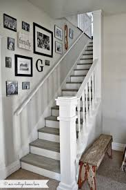 The stairs.... What a great way to space pictures going up a stairway!  Thanks