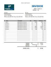 Excel Sales Invoice Template Sales Invoice Template For Excel Sale Invoice Puro Templates