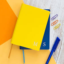 monogram leather notebook
