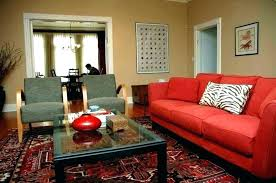 red couch living room ideas red