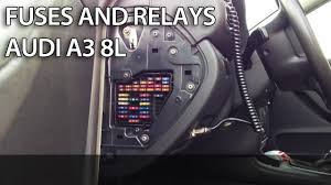 where are fuses and relays in audi a3 8l fuse box automotive location of fuse boxes and relays in audi car there are two places for fuses in your car first inside cabin under the dashboard behind side cover