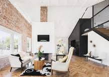 Black And White Brick Wall For Artistic And Astonishing White Brick Wall Living Room