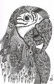 Parrot Abstract Doodle Zentangle Zendoodle Paisley