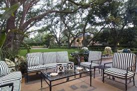 black white stripes patio furniture