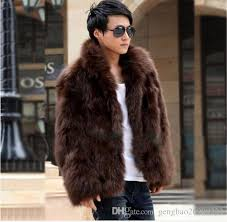 2019 new fashion winter faux fur men s jacket hoos fur coat brown white men long sleeves clothing winter outerwear from gengbao20909222 45 11 dhgate