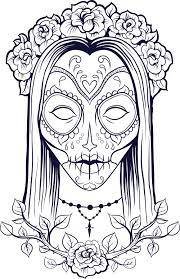 Small Picture Sugar Skull Coloring Page 9 Sugar skulls Sugaring and Adult