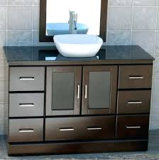 48 inch black bathroom vanity bathroom vanity inch cabinet black granite top ceramic vessel sink 48
