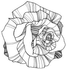 Elegant Flowers And Roses Coloring Pages Doiteasyme