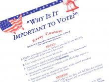 why is it important to vote summit elks lodge  application for essay contest