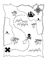 Printable Treasure Map Kids Activity Treasure Map Print In New ...